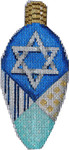 EE-990 Large Hanukkah Light Bulb 2.5x5.25 18 MESH Associated Talents