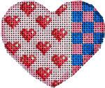 HE-665 Hearts/Squares Mini Heart 2.75x2.5 18 Mesh Associated Talents