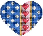 HE-664 Polka Dot/Hearts Mini Heart 2.75x2.5 18 Mesh Associated Talents
