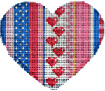 HE-840 Be Mine Stripe Heart II 3.5x3 18 Mesh Associated Talents