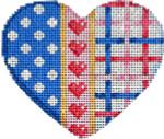 HE-838 Polka Dot/Hearts Lattice Heart 3.5x3 18 Mesh Associated Talents