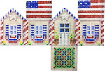 HH-453 Mini Cottage Americana 4.75x3.75 18 Mesh Associated Talents