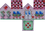 HH-450 Mini Cottage Valentines 4.75x3.5 18 Mesh Associated Talents