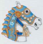 "HO911 5.25"" Tall, 18 Mesh Carousel HORSE HEAD #1 Raymond Crawford Designs"