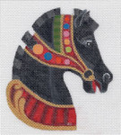 "HO914 Raymond Crawford Designs  5.25"" Tall, 18 Mesh CAROUSEL HORSE HEAD #4"