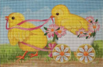 HO1309 2 Chicks and an Egg 6x 9.25 18 Mesh Raymond Crawford Designs