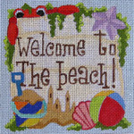 QT34 Raymond Crawford Designs 5 x 5 WELCOME TO THE BEACH