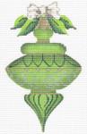 "KAH8-18 August Peridot 3.5"" x 6"", 18 Mesh With Stitch Guide KELLY CLARK STUDIO, LLC"