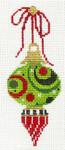 "KCV112 Petite Victorian Lime Polka Dot Teardrop 2.25"" x 4.75"", 18 Mesh  KELLY CLARK STUDIO, LLC"