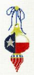 "KCNTX14 Lonestar Double Drop Ornament .75"" x 4.75"", 18 Mesh KELLY CLARK STUDIO, LLC"