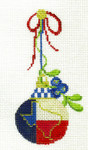 "KCNTX15 Texas State Ornament 2.25"" x 4.75"", 18 Mesh KELLY CLARK STUDIO, LLC"