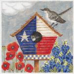 "KCNTX18 Lonestar Birdhouse 6"" x 6"", 18 Mesh KELLY CLARK STUDIO, LLC"
