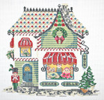"KC-KWV14-18 Village Toy Shoppe 7.5"" x 7.75"" 18 Mesh With Stitch Guide  KELLY CLARK STUDIO, LLC"
