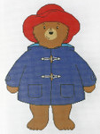 809 Paddington Bear Doll 10 x 16 Mesh size: 13 Mesh Silver Needle Designs