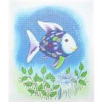 "P1277 Rainbow Fish 10""x12"" - 18 Mesh Lee's Needle Arts"