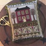 Annie Beez Folk Art Cross Stitch Pattern Pins And Needles 91w x 104h