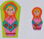 AW-36 Danji Designs ANN WINN Russian Doll Scissor Case 3 x 4 & 1 1/4 x 2 1/2 With Stitch Guide