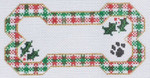 BP-14 BP DESIGNS Christmas Plaid Bone Ornament 6 x 3 Insert Your Dog's Name! 18 Mesh