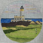 "8100 Turnberry Lighthouse Turnberry, Scotland 4"" round, 18 mesh Purple Palm"