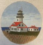 """7152 Cape Flattery Light – WA Neah Bay, Washington 4"""" round, 18 mesh Purple Palm"""