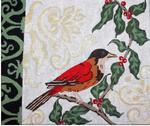 B313 Melissa Prince Winter Bird 12 x 10
