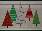 1383 Whimsical Christmas Trees 12 x 9 18 Mesh NeedleDeeva