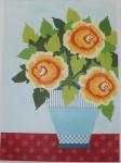 661L NeedleDeeva 18 Mesh 13.25 x 9.5 Sunny Day Flowers