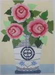 661M NeedleDeeva 13 Mesh 17 x 12  Rosie Flowers