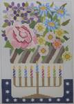 565C NeedleDeeva 5.5 x 8 18 Mesh Hanukkah Basket