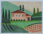 "BB107 Tuscan Villa 10"" x 9"" BB Needlepoint Designs 18 Mesh With Stitch Guide"