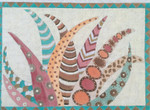 "BB134 Native Feathers BB Needlepoint Designs 18 Mesh 9.5""x 8"""