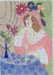 "BB135 Lady in thought BB Needlepoint Designs 18 Mesh 6""x7.5"""