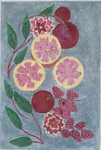 "BB138 Pomegranates & Beets BB Needlepoint Designs 18 Mesh 6"" x 8.5"""