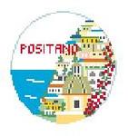 "BT675 Positano, Italy 4"" Diameter Kathy Schenkel Designs"