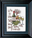 Good Wine Good Friends Bobbie G Designs