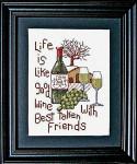 09-2636 Good Wine Good Friends Bobbie G Designs