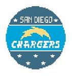 BT351 San Diego Chargers Kathy Schenkel Designs 4 dia x