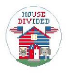 """BT271C House Divided Rep/Dem  4"""" diameter Kathy Schenkel Designs"""