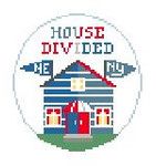 BT270P House Divided Patriots Giants Kathy Schenkel Designs
