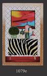 1079e Zebra Credenza 9x14 18 Mesh Lani Enterprises