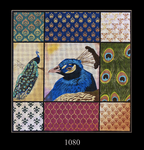 1080 Peacock Collage 15x15 13 Mesh Lani Enterprises