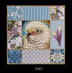 1082 Cockatoo Collage 15x15 13 Mesh Lani Enterprises