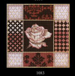 1083 Rust Rose Collage 15x15 13 Mesh Lani Enterprises