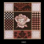1083 Rust Rose Collage 15x15 13 Mesh Lani Enterprises