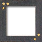 Mill Hill Frame Matte Black w/Primitive Stars GBFRFA6