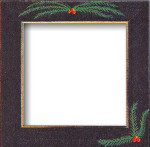 Mill Hill Frame Matte Black w/Pine Boughs GBFRFA16