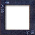 Mill Hill Frame Matte Blue w/Snowflake GBFRFA15