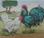 SW110 Rooster Landscape 10 x 12 13 Mesh Birds Of A Feather