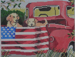 SW111 Red Truck Dogs 8x10 13 Mesh Birds Of A Feather