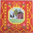 BF816 French Tile Rooster 8x8  13 Mesh Birds Of A Feather